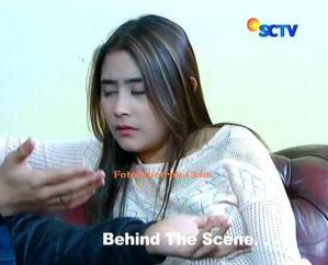Behind the Scene Prilly tertidur saat dialog